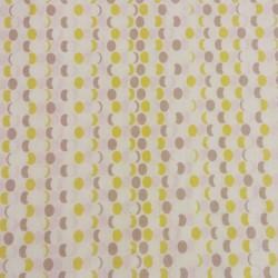 Tissu coton 100% BIO ovales esprit rétro- 20 x 160 cm