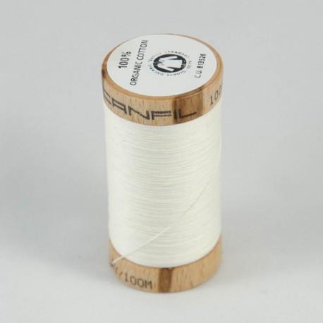 Bobine de fil 100% coton bio Ecru Naturel