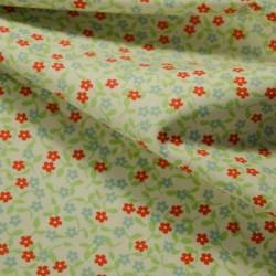 Tissu Petites Fleurs des Champs coton BIO doux