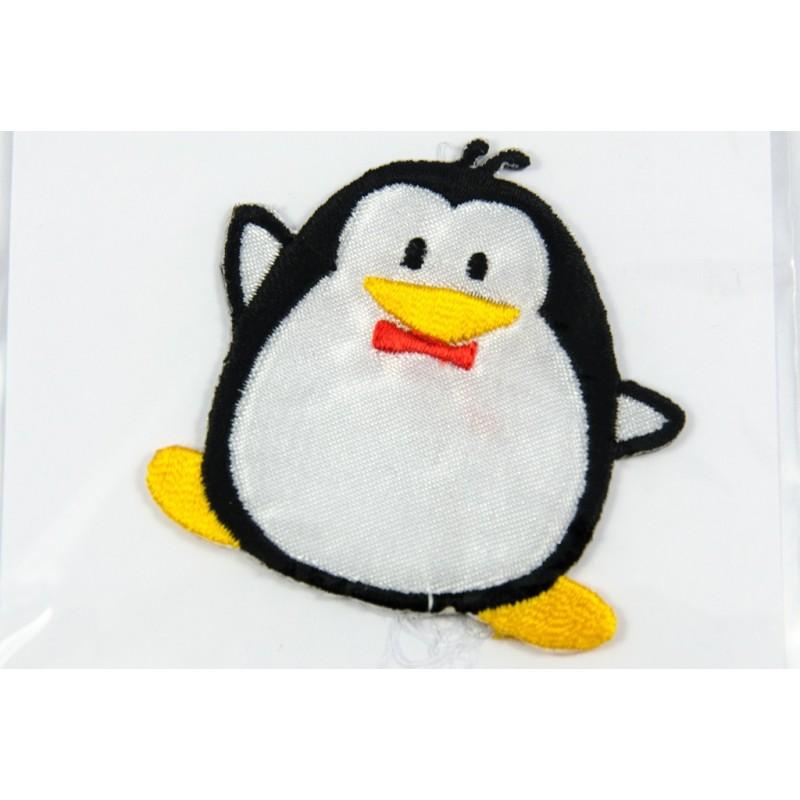 Ecusson brodé thermocollant pingouin