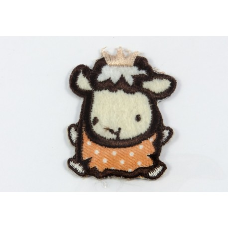 Ecusson brodé thermocollant mouton
