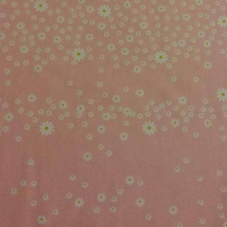 Tissu coton 100% BIO marguerite sauvage