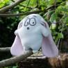 Kit couture bio et personnalisable doudou lapin Mimi feutres- 20 cm - corps bleu oreilles rose