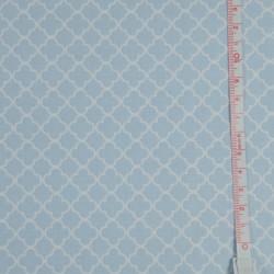Tissu coton Gütermann chevrons vert et blanc Ring a roses - Collection Summer Loft