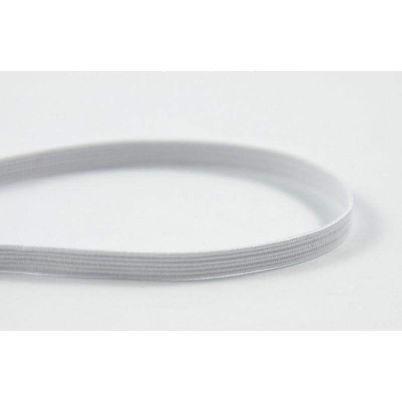 Elastique plat blanc 4 mm