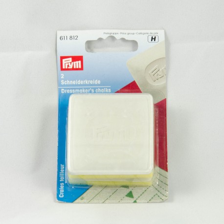 Boite de 2 craie-tailleur PRYM coloris blanc
